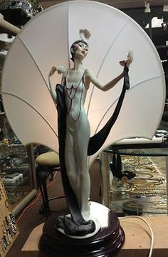 Armani Figurines Florence Collection | Armani Porcelain Figurine Lamp Limited Ition used, new for sale ...