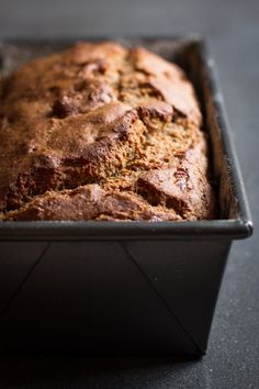 You will not believe this Banana Bread is gluten-free.  Made with a simple mix of oat flour, buckwheat flour, and almond meal. // edible perspective