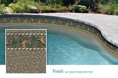 Black Pebble Pool Liner Pictures
