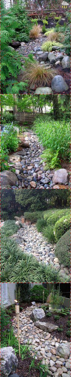 25 Gorgeous Dry Creek Beds   Panoramic Garden Ideas ~ Clipboards   @styleestate #garden #gardenscapes #gardenideas #drycreekbeds