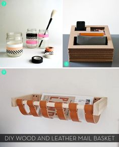 15 #DIY Office Storage and Organization Ideas