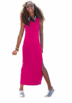 Produkttyp , Jerseykleid, |Qualitätshinweise , Hautfreundlich Schadstoffgeprüft, |Materialzusammensetzung , Obermaterial: 100% Viskose, |Material , Jersey, |Farbe , Pink, |Passform , sehr schmale Form, |Schnittform/Länge , lang, |Ausschnitt , Kante eingefasst, |Ärmelstil , ohne, |Armabschluss , Kante eingefasst, |Saumabschluss , Kante abgesteppt, |Optik , uni, |Pflegehinweise , Maschinenwäsche,...