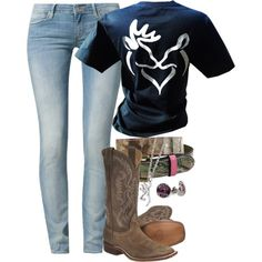 """""""Today: Hangover and work at the farm"""" by backwoods-princess on Polyvore"""