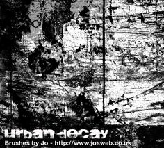Urban Decay Photoshop Brushes by gojol23.deviantart.com