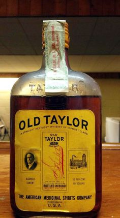 Old Taylor Medicinal Bonded, pint, 1917-1933 | whiskey id - identify vintage and collectible bourbon and rye bottles
