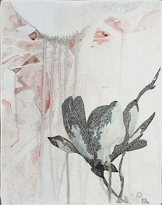 """Belinda Fox, Title: Too Deep I, 2011. Size: 35 x 38 cm. Medium: Watercolour and drawing on board"""