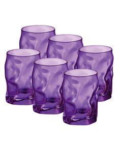 Purple Sorgente Water Glass - Set of Six