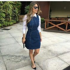 Casual Work Outfits, Cute Outfits, Modest Fashion, Fashion Outfits, Fashion News, Women's Fashion, Denim Skirt Outfits, Modest Wear, Church Outfits