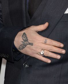 How many tattoos does Johnny Depp have? Some reports claim that the Hollywood superstar has as many as tattoos. Here is the meaning (with pictures) of all Johnny Depp Tattoos. Fine Line Tattoos, Body Art Tattoos, Print Tattoos, Small Tattoos, Cool Tattoos, Tatoos, Freedom Bird Tattoos, Eagle Tattoos, Best Sleeve Tattoos