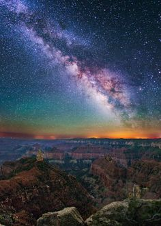 Imperial Point Milky Way, Grand Canyon by Wayne Pinkston / 500px