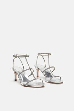e44350ddde Image 3 of HEELED SANDAL WITH LAMINATED STRAPS from Zara