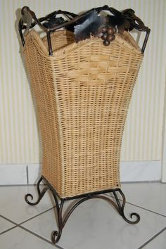 This pretty basket will hold your umbrellas.