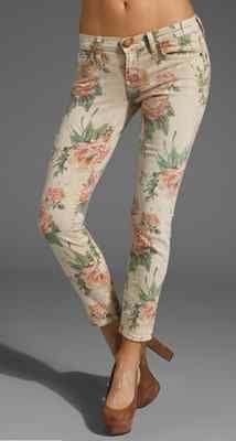 Current/Elliot floral jeans