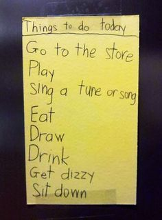 hell yes...my to do list for today