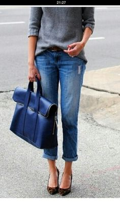 Great casual look # boyfriend jeans # shopper - Find 150+ Top Online Shoe Stores via http://AmericasMall.com/categories/shoes.html