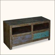Midnight Double Feature Reclaimed Wood TV Cabinet Media Center