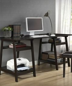 Take a look at this Dark Brown Mott Desk by Baxton Studio on #zulily today! $159-$250 !!