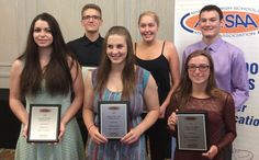 High School Athletes of the Year Honored by MHSAA Back Row L to R: Wellington Driedger Keylyn Filewich Matthew Klassen Front Row L to R: Ashley Jay Carmen Ross Kaylee Butterfield The Manitoba High Schools Athletic Association announced the 2016 Jostens High School Athletes of the Year at a Media conference held June 24th at the Holiday Inn South. All athletes who were honored by the MHSAA participated in basketball over the past year including many who were recognized at the Basketball…