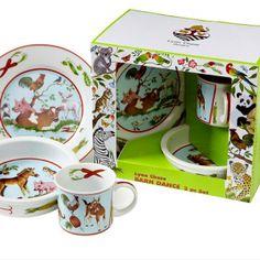 Lynn Chase - 3 piece children's plate set $60