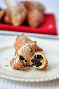 Mario Batali's recipe for Chocolate and Pistachio Fritters