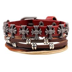 Wrap Feather Leather Bracelets Men or Women