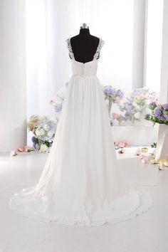 Brudklänning i chiffong HS9602