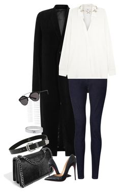 """Untitled #1054"" by manoella-f on Polyvore featuring Rick Owens, John Lewis, Bandolera, Christian Louboutin, Givenchy, B-Low the Belt, Mulberry, Forever 21 and Christian Dior"