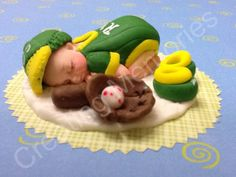 Baby in A's Uniform Baseball Player Cake Topper BABY by anafeke