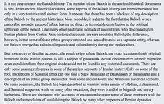 Excerpt from Naseer Dashti's book Baloch and Balochistan