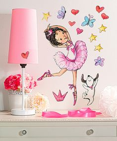 WALLIES Ballerina Wall Decal Set