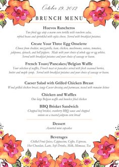 New bridal brunch menu simple 30 ideas Birthday Party Invitation Wording, Easter Invitations, Custom Party Invitations, Brunch Invitations, Easy Brunch Menu, Brunch Recipes, Brunch Food, Brunch Ideas, Bridal Shower Menu