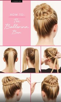 Dance Hairstyles, Braided Hairstyles Updo, Braided Updo, Hair Updo, Diy Hairstyles, Pretty Hairstyles, Hairstyle Tutorials, Bun Braid, Hairstyle Ideas