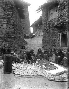 Funeral repast. Tusheti. Omalo village. 1931, Museum of Georgia
