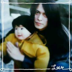 Atsushi Sakurai and his nephew. Buck-Tick