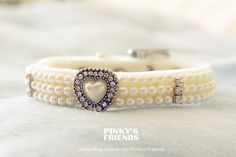 Bling Rhinestone Diamante & Pearl  Velvet Pet by PinkysFriends, $25.80AUD Things for my Frenchie....