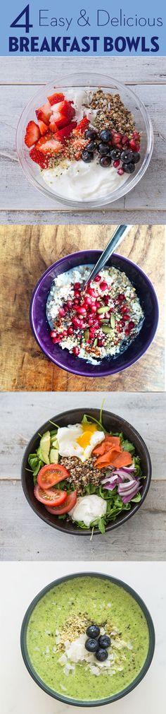 4 Takes on the breakfast bowl, all featuring Chobani Greek Yogurt!