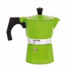 Pantone Coffee Maker - Green Shoots 3 cup pot #cafetera italiana colores