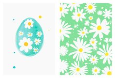 Margaret Berg Art: Easter Daisies Cards