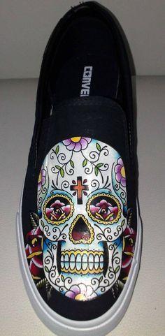 Sugar Skull Converse Flats gotta have em'