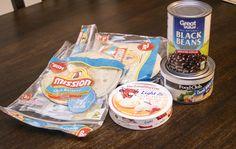 THM E-Black Bean Chicken quesadillas----ingredients for Trim Healthy Mama black bean quesadillas