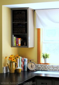 Kitchen Soffit Bulkhead Makeover With Beadboard And Wood