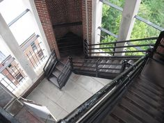 Going down the tower at Holy Hill