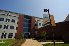 Occoquan Building on the Prince William Campus. Photo courtesy of Creative Services, George Mason University