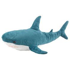 Ikea Co, Shark Plush, Blue Shark, Big Brown, Shark Week, Brown Bear, In A Heartbeat, Kids Toys, Zoo Toys