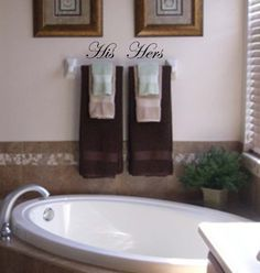 His And Hers Vinyl Wall Decals 6 00 Via Etsy Neat Idea For Bathroom