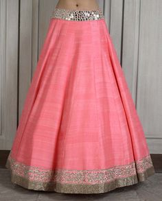 Pink Lengha Set with Mirror Work- Buy Couture,Lenghas,New Arrivals,Lehnga Online | manishmalhotra.in