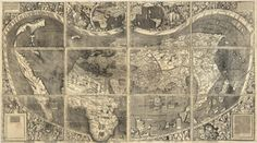 MapCarte 311/365: A map of the world according to the tradition of Ptolemy and the voyages of Amerigo Vespucci and others by Martin Waldseemüller, 1507