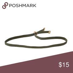 Olive elastic choker Olive elastic choker Jewelry Necklaces
