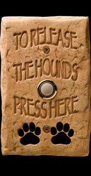 DogBellz -- Handmade, Hand-painted, Made-in-the-USA Dog Doorbells - eclectic - products - miami - DM Decos by Design, Inc. - If we ever replace our doorbell - we need this :-) Design Fonte, Basset Hound, The Ranch, Mans Best Friend, Dog Life, I Love Dogs, Pet Grooming, Fur Babies, The Best