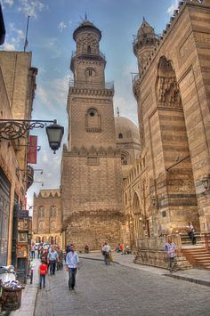 Scene from old Cairo